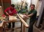 Výroba dřevěnných saní pod stříkačku